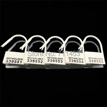 Disposable Plastic Locking Pieces Cards Blockade For Male Chastity Cock Cage Lock Fitting 5 Different Numbers Keyholder