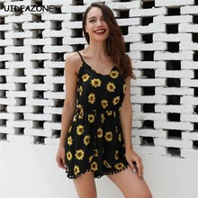 d0bc5e44c11f Women Spaghetti Floral Jumpsuit Elegant Rompers Backless Summer Playsuit  Sexy Body Feminino 2018 Bodycon Casual Bodysuit Short
