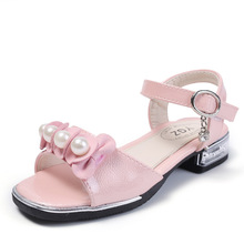 Buy COZULMA Girls Pearl Beading Ankle Strap Peep Toe Roman Sandals Shoes Kids Summer Princess Sandals Children Soft Sole Shoes for $11.25 in AliExpress store