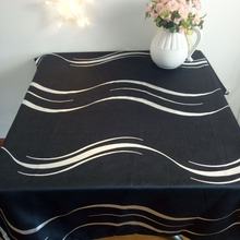 New black with silver striped  table cloth Europe style table cloth free shipping
