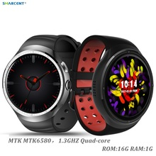 "LES1 Smart Watch 1GB + 16GB Big Memory 1.39"" OLED android 5.1 OS GPS WIFI Arc Round Screen smartwatch with 2.0 MP camera"