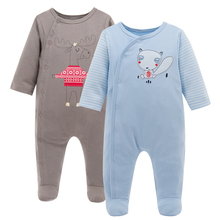 KAVKAS Winter Baby Kintted Romper Newborn Clothes Baby Christmas Wear Cotton Long Sleeve Baby Boy Costume Infant Sleep Pajamas