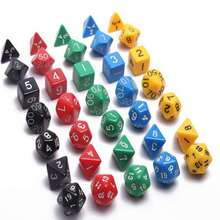 Sided Dice 7 pcs /set Funny Toys Polyhedral Boson Family Games Party Game Dice Novelties Entertainment Toy High Quality