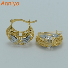Anniyo Wholesale Mix Silver/Gold Color Earrings for Women/Girl Africa Item/Ethiopian Jewelry #003802(China)