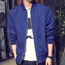 Wholesale Men Jackets And Coats Men Fashion Classic Padded Bomber Jacket Slim Motorcycle Coat Zip Outwear Jacket for men