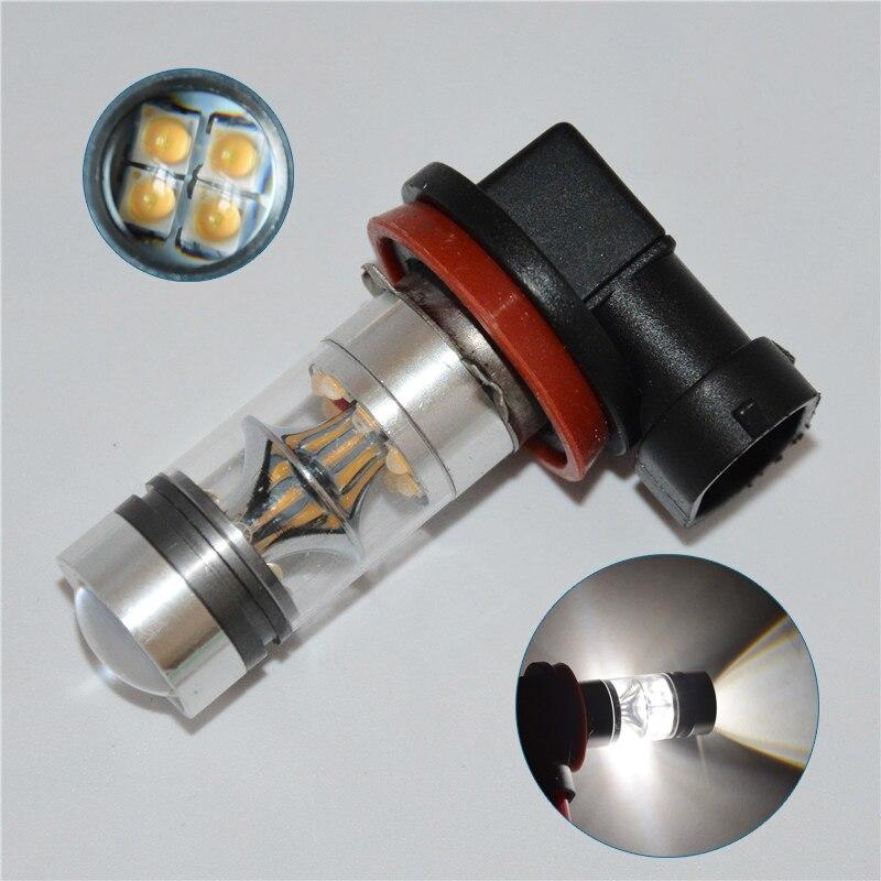 2pcs 100W High Power H8/ H11 Car LED Fog Light Lamp Bulb Auto Accessories For Honda Civic 20006 2007 2008 2009 2010 2011<br><br>Aliexpress