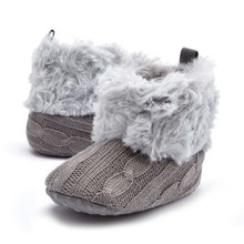 Super Warm Prewalker Boots Toddler Girl Boy Crochet Knit Fleece Booties Wool Winter Snow Crib Shoes 0-18M(China)
