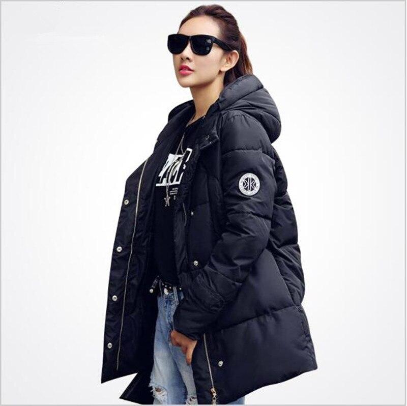 2017 new fashion Korean women winter long plus size M-2XL warm epaulet wadded cotton slim hooded coats jackets parkas outwearОдежда и ак�е��уары<br><br><br>Aliexpress