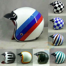Hot motocross helmets (7 colors) MASEI ruby vintage helmet 3/4 Open Face Scooter Helmet Vintage Harley Jet Motorcycle Helmet(China)