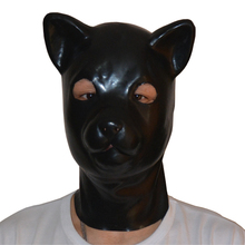 Buy (LS04)Fetish Latex full head latex pig dog cat leopard wolf horse animal head slave mask rubber hood SM Hood suffocate Mask