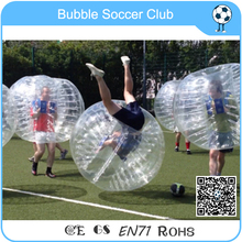 Free Shipping Wholesale 10 pcs(5 Red +5 Blue) 1.5m Inflatable loopy ball ,Bubble Football Ball ,Bubble Soccer Ball For Promotion(China)