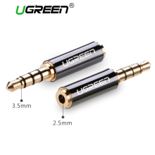 Ugreen High Quality 3.5mm Male Jack to 2.5mm Female Plug 4 Pole Head Phone Earphone Stereo Audio Adapter Connector for Cable(China)