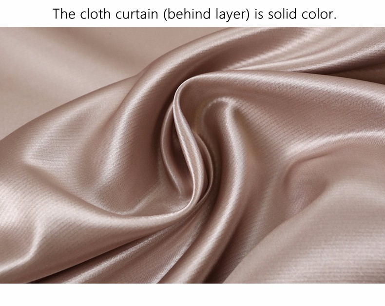 European Royal Curtains 11 Colors Embroidered Voile Curtains for Living Room Drapes Crystal Beaded Curtains Sheer (63)