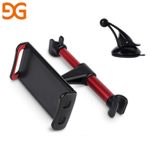 GUSGU Car Phone Holder Headrest Bracket 360 Degree Rotation Adjustable Universal Back Seat Stand For Mobile Phone iPad Tablet(China)
