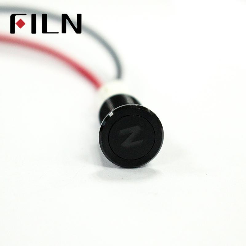 Waterproof FILN 12V LED Car Boat LED Warning Dashboard Signal Lights Instrument Pilot Lamp 220V 10mm (3)