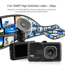 New 3.0 inch LCD Dash Camera Video Car DVR Recorder Full 1080P HD G-Sensor 32GB Motion Detector Cycle Recording(China)