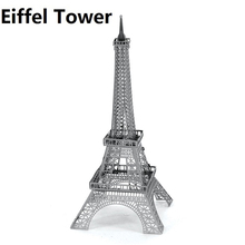 3D DIY child puzzle toys Eiffel Tower Metal Model kits Metallic Nano Laser Cut Building Puzzle DIY Toy Gift ornaments miniatures