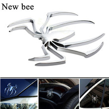 Newbee Car Styling Accessories 3D Metal Sticker Chrome Spider Emblem Logo Motorcycle Decal For BMW VW Ford Toyota Honda Kia Opel(China)
