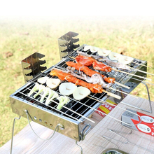 Thickened stainless steel charcoal barbecue stoves/Quality materials outdoor BBQ grill picnic essential tools