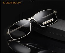 NOMANOV BRAND Custom Made Nearsighted Minus Prescription Polarized Sunglasses Men Al Mg Alloy Shield  -1 -1.5 -1.75 To -6