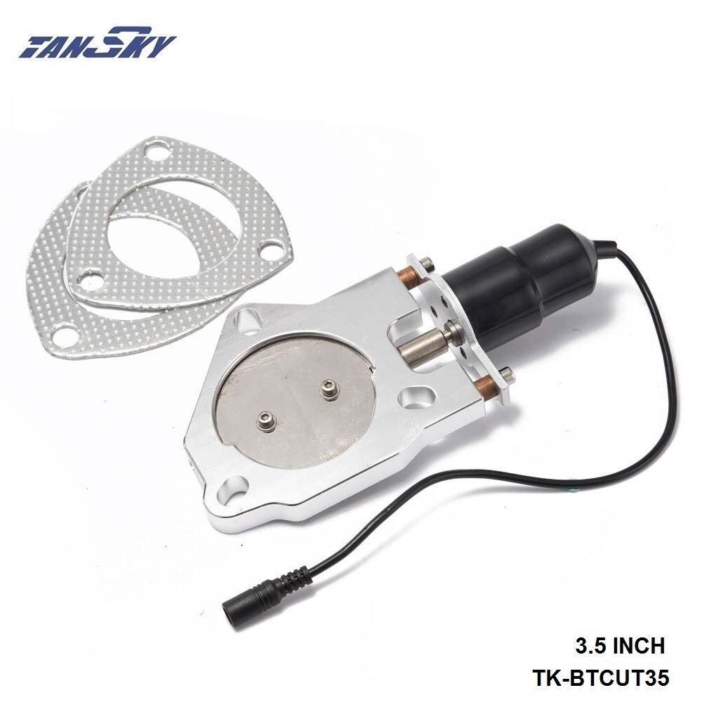 "TANSKY- 3.5"" Electric Exhaust Cutout Remote Control Motor Kit For GM Holden Nova 68-74 69 70 71 72 73 TK-BTCUT35"