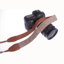 Universal Vintage Adjustable Cotton Leather Camera Shoulder Neck Strap Belt For Sony Nikon SLR Cameras Strap Accessories