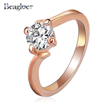 Free Shipping New Fashion Ring Rose Gold Genuine SWA Element Austrian Crystal Female Wedding Ring Ri-HQ1084-A