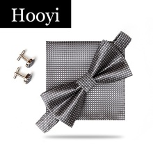 New Arrival Tie Set Bow Ties for Men Pretied Bowtie Pocket squares Cufflinks Wedding Butterfly Handkerchief Mariage