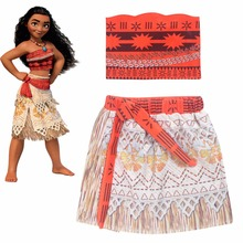 2017 summer kids clothes toddler Clothing Suits Clothes Baby Kids MOANA Cartoon tracksuits DRESS SUIT Children Set cosplay