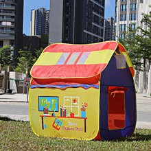 Large Space Playhouse Toy Tents Portable Foldable Outdoor Indoor Cartoon Tent & Tent Peg Children Kids Toys Play Tent Game House
