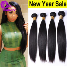 8A Indian Virgin Hair Straight 4Bundles Rosa Hair Products Raw Indian Hair Unprocessed Straight Virgin Human Hair Extensions