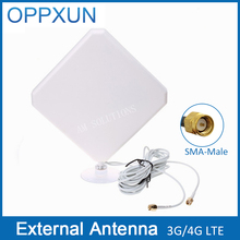 4G Antenna SMA male 3G 4G LTE antenna 4G modem antenna 35dBi with 2m cable  for Huawei router and ZTE modem