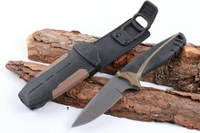 Small Hunting Fixed Blade Knife 5CR17MOV Blade Rubber Handle Survival Knife Camping Outdoor Multi Tools High Quality