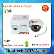 HIK Updatable DS-2CD2120F-I 2MP Fixed Dome Network IP Camera 2.8MM 1/2.8'' CMOS PoE IR Good Night Vision IK10 CCTV SYSTEM IP66
