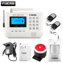LCD Screen 433Mhz Remote Control Wireless GSM sms call PSTN phone line dual network Home Security gsm Alarm System