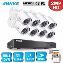 ANNKE 1080P 8CH HD TVI 4 in 1 DVR VCA 8 pcs 2MP HD IR Day Night CCTV Camera Video Security System(China)