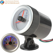 0~8000 RPM Blue Light Auto Car Tachometer Tach Gauge Tacho meter with Holder Cup(China)