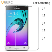Vrurc Screen Protector For Samsung Galaxy J1 J2 J3 J5 J7 2015 2016 2017 Tempered Glass for Samsung Galaxy J Series film cover(China)