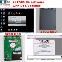 The latest SD C4 star diagnosis 2017/05 DTS/Vediamo/DAS/Xentry/EPC HDD(320G)/SSD(240G) software specialty for Mercedes Benz car