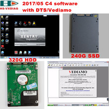 The latest SD C4 star diagnosis 2017/09 DTS/Vediamo/DAS/Xentry/EPC HDD(320G)/SSD(240G) software specialty for Mercedes Benz car(China)