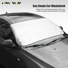 Onever Window Foils Sun Shade Front Window Sunshade UV Protect Car Window Film Car Windshield Visor Cover Block Car Styling
