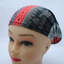 Factory-100% Viscose Snow and Deer design Stretchy Headwrap  Head band hair band for winter