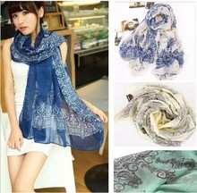 adult 2014 impression new great fashion chiffon scarf scarves shawls and vintage porcelain woman free transport