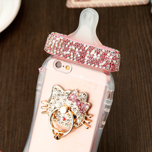 New special offer  milk mobile phone shell For apple iphone 4 4s 5 5S SE 6 6s 6 plus 6s plus silica bottle nipple ring buckle