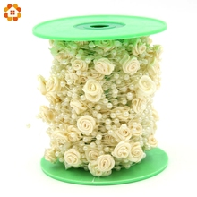 5Meters/Lot Fishing Line Artificial Pearls With Flower Beads Chain Garland For Wedding Party & Bridal Bouquet Flower Decoration