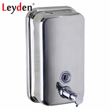 Leyden Stainless Steel Liquid Soap Dispenser Holder 500/800/1000ML Wall Mounted Hand Liquid Soap Dispenser Bathroom Accessories(China)