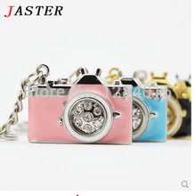 JASTER mini Camera USB Flash Drive crystal pendrive 4GB/8GB/16GB/32GB memory stick U disk metal diamond thumb drive
