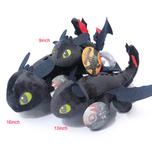 16inch 40cm How to Train Your Dragon Plush Toys 16cm Night Fury Toothless Soft Doll  For Children Free Shipping