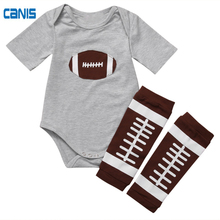 0-24M Cotton Toddler Baby Newborn Boys Girls Rugby Tops Romper+Pants Leg Outfits Fashion Lovely New Summer Clothing Set(China)