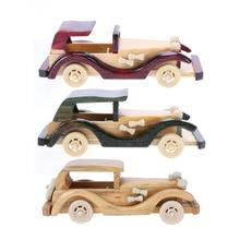 Retro Style Wooden Classic Model Car Toys, Solid Wood Decoration Cars Crafts Simulate Mini Automobiles Gift Wooden Car Toy(China)
